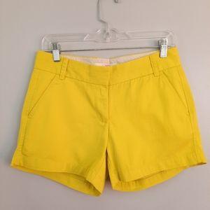 J. Crew Yellow Cotton Broken In Chino Shorts